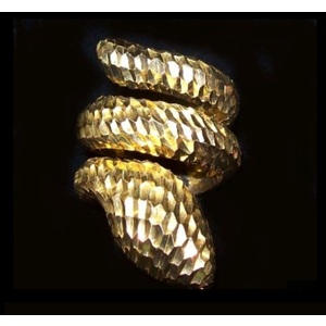 Anello Serpente Martellato