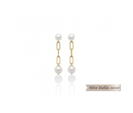 Miluna orecchini donna con perle miss italia per2512