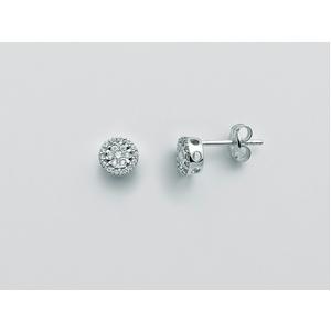 Orecchini oro bianco e diamanti Favolosa Miluna ERD2490