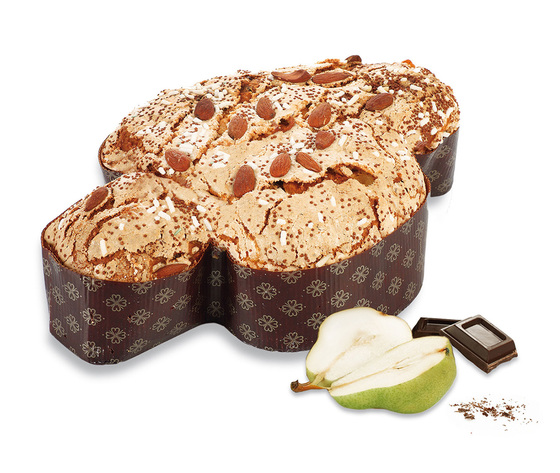 Colomba pere e cioccolato