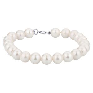 Bracciale con perle ed oro bianco