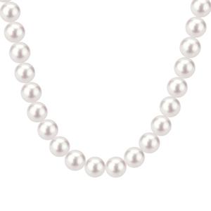 Collana con perle ed oro bianco