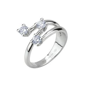 Anello Trilogy in oro con diamanti