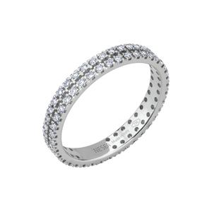 Anello Eternity in oro con diamanti