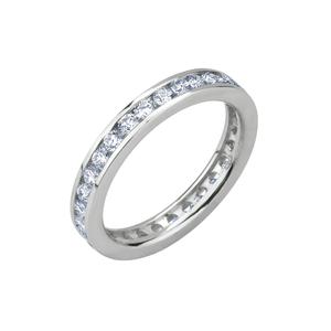 Anello Eternity in oro con diamanti da Kt 0,03 ognuno