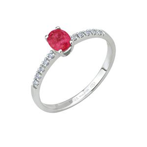 Anello in oro con diamanti e rubini