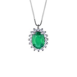 Ciondolo in oro con diamanti e smeraldi