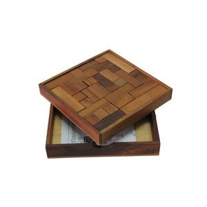 Gecas Regali dal mondo GIOCO LEGNO PENTOMINOES Misura. 15X15 cm.