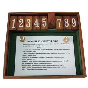 Gecas Regali dal mondo Gioco Legno Shut The Box Misura 26X23 cm.