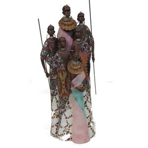 Gecas Regali dal mondo Masai Gruppo 6 Persone Misura 46X17X11 cm.