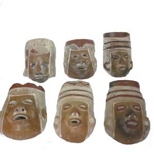 Gecas Regali dal mondo Maschere Terracotta vendute in assortimento Casuale Misura 15X10 cm.