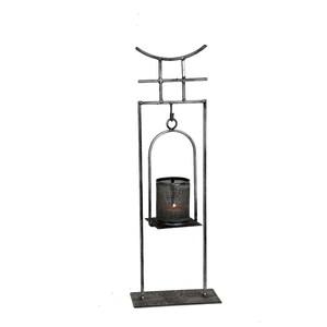 Gecas Regali dal mondo PORTACANDELA Ferro Pagoda Lanterna H40X10 CM