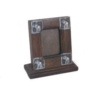 Gecas Regali dal mondo PORTAFOTO LEGNO ALPACCA. 10X10 cm.