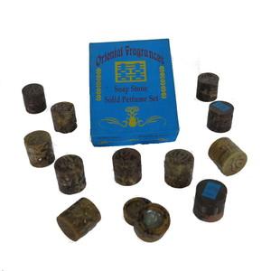 Gecas Regali dal mondo Set di 12 BARATTOLI PROFUMI Crema D.3X H.3.cm.