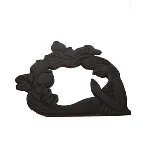Gecas Regali dal mondo Specchio Legno Donna Fiori Misura 54X38 cm.