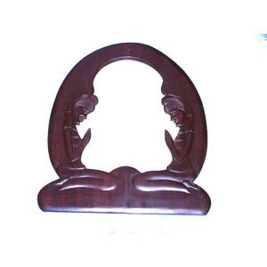Gecas Regali dal mondo SPECCHIO Legno Due Dame Grande 60X48 cm.
