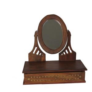 Gecas Regali dal mondo Specchio Ovale con.CASSETTO 27X10X25 cm.