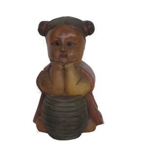 Gecas Regali dal mondo Statua Bimba Botte Misura H.22 cm.