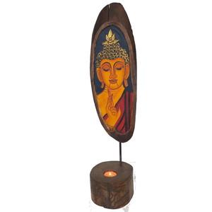 Gecas Regali dal mondo Statua Budda con Base PORTACANDELA. Misura 53X14 cm.