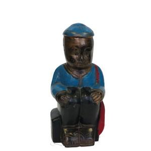 Gecas Regali dal mondo Statua Legno Bimbo Marinaio H22 CM.