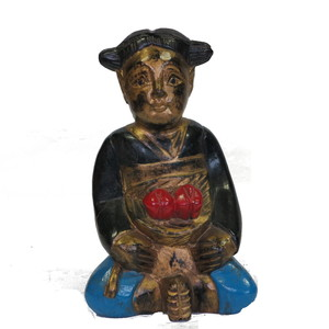 Gecas Regali dal mondo Statue Bimba Due Fiori. H20 CM.