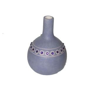 Gecas Regali dal mondo Vaso Ceramica Viola Bottiglia H.21X14 cm.