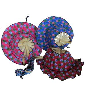 Gecas Regali dal mondo VENTAGLI Cappello Cotone Misura27 CM. Colori E Stampe Casuali