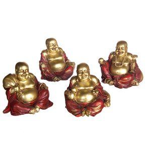 Lotto 8 Composto da 100 Budda Cinese in polystone 12x10 cm.