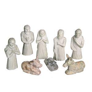 Gecas Regali dal mondo - Presepe Pietra Saponaria Set 8 Pz. Gr. H.11 cm