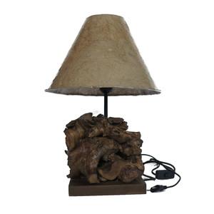 LAMPADA IN RADICI DI TEACK H.50 CM. 1TL0967