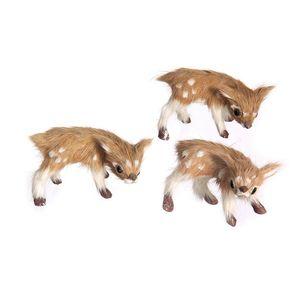 Gecas Regali dal mondo - Cerbiatti di Pelliccia Set di 3 Misura 7 x 4 cm