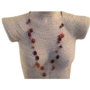 Gecas Regali dal mondo - Collana Perline Dipinte Misura L.70 cm