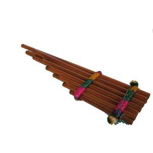 Gecas Regali dal mondo - . Flauto Pan con Nastro. CM. 55