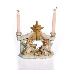 Gecas Regali dal mondo - Angeli Ceramica Portacandela Misura 16 x 18 cm