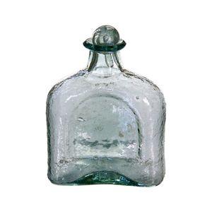 Gecas Regali dal mondo - Bottiglia Vetro Soffiato Misura H18 cm, Colore Trasparente