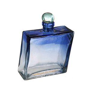 Gecas Regali dal mondo - Bottiglia Vetro Soffiato Quadrata Misura H18 cm