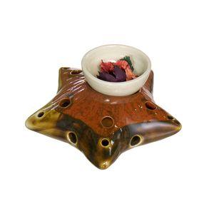 Gecas Regali dal mondo - Brucia Aroma Ceramica Stella Misura 15 x 15 cm