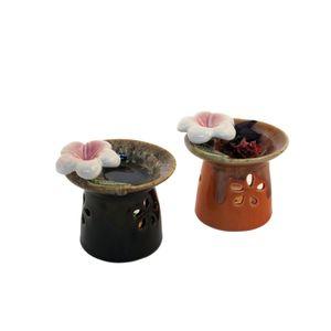 Gecas Regali dal mondo - Brucia Aroma Fiore Set di 2 Misura 9 x 9 cm