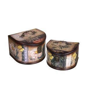 Gecas Regali dal mondo - Cofanetto Semicerchio Set 2 Misura 16 x 21 x 23 cm