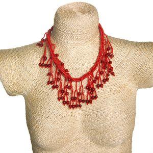 Gecas Regali dal mondo - Collana Perline Misura Pendenti Lunghi 6 cm L.41cm.
