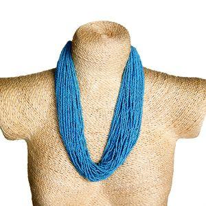 Gecas Regali dal mondo - Collana Perline Turchese Misura L.60 cm