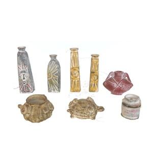 Gecas Regali dal mondo - Lotto 21 Composto da 64 vasi in Terracotta Messicana