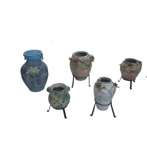 Gecas Regali dal mondo - Lotto 23 Composto da 30 vasi in Terracotta con Base