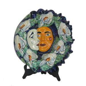 Gecas Regali dal mondo - Maschera Ceramica Talavera D.30 CM.