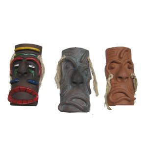 Gecas Regali dal mondo - Maschere Cabelodo Set di 3 Misura 25 x 10 cm