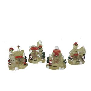 Gecas Regali dal mondo Ornamenti -Casette Natalizie con Luce 8X10 CM.1CI0283