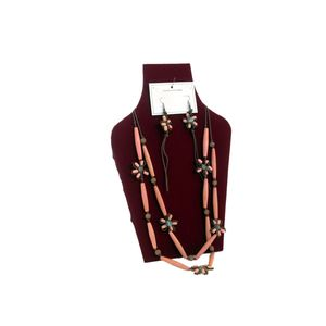 Gecas Regali dal mondo - Parure Legno Perline Misura L.60 cm