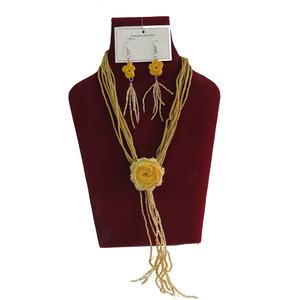 Gecas Regali dal mondo - Parure Perline Nastri Misura L.40 cm