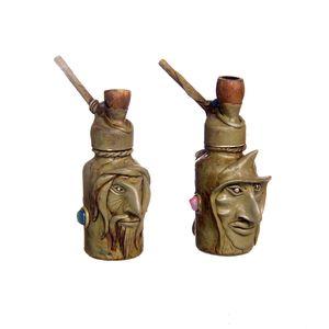 Gecas Regali dal mondo - Pipe Hukka con Maschera Misura H.13 cm