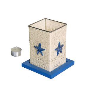 Gecas Regali dal mondo - Portacandela Corda Ferro Misura 15 x 13 cm
